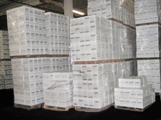 Carton Sealing Tape in Pallets