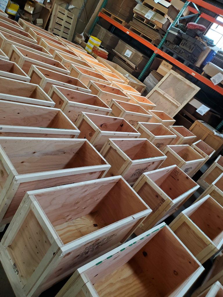 Custom Large Trade Show wooden shipping crate