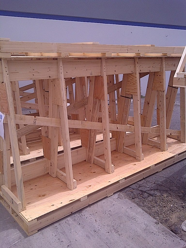 Large wooden shipping crates
