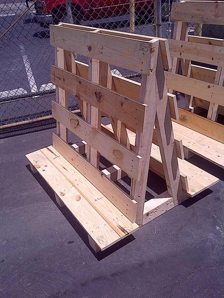 Wood A-Frames Shipping Crate
