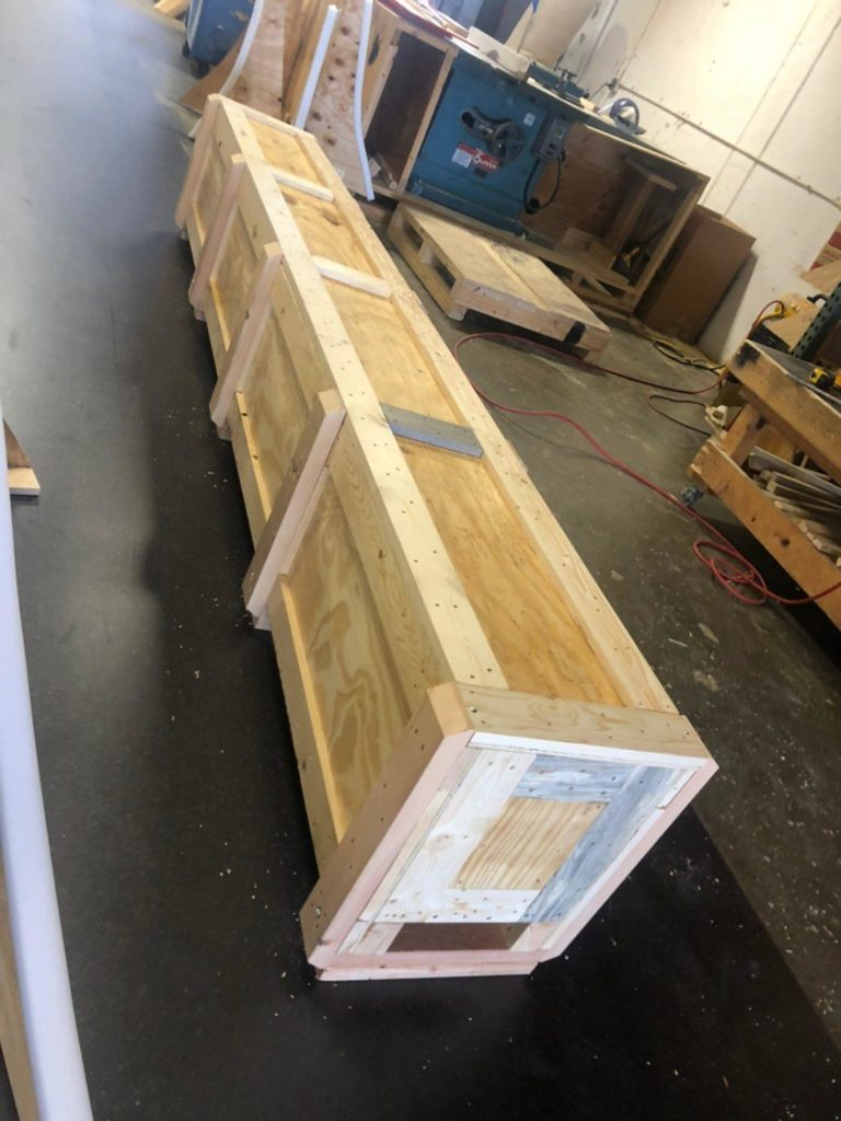 Shipping wood crate