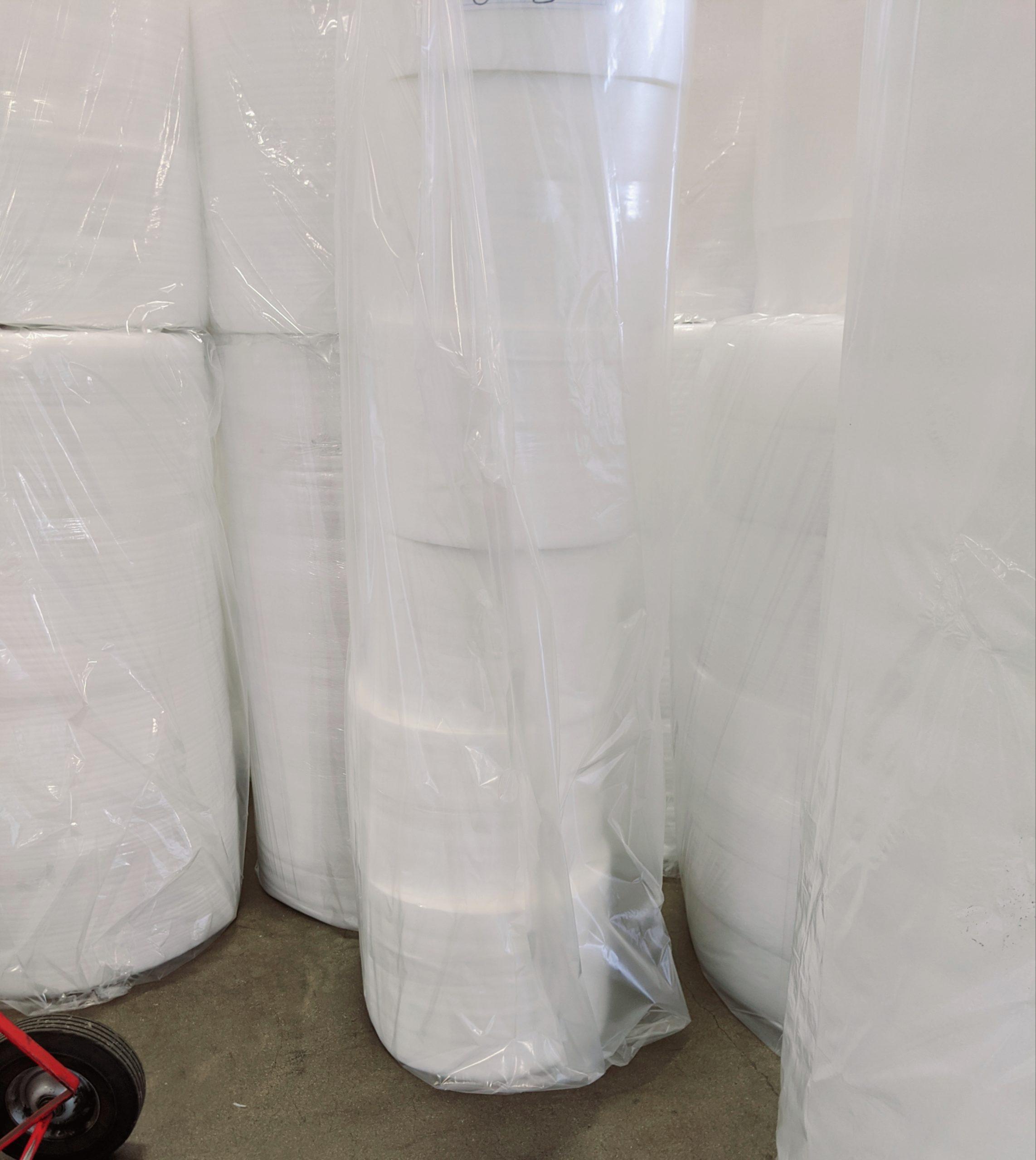 Packing Foam Rolls Split Perforated Custom